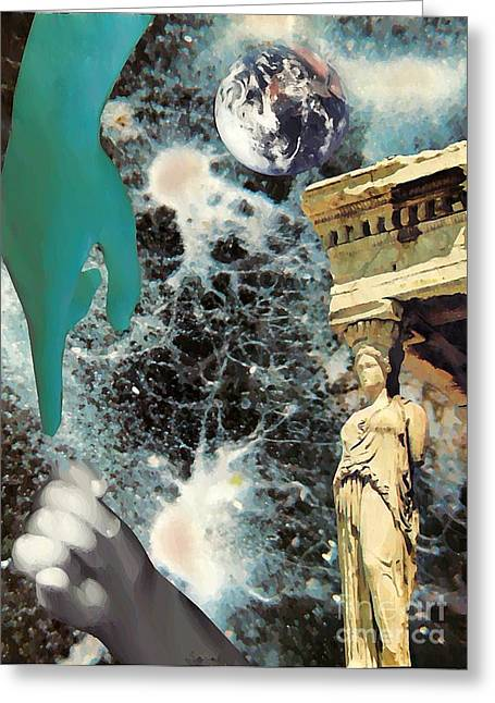 Sarah Loft Greeting Cards - New Life in Ancient Time-Space Greeting Card by Sarah Loft