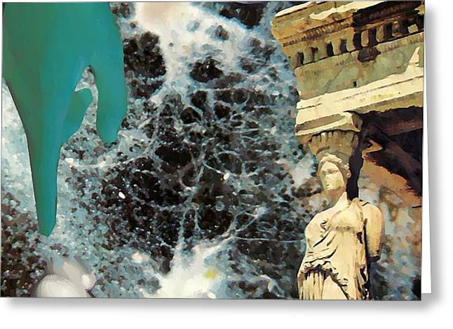 New Life in Ancient Time-Space Greeting Card by Sarah Loft