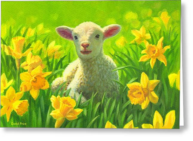 Spring Bulbs Greeting Cards - New life in spring Greeting Card by David Price