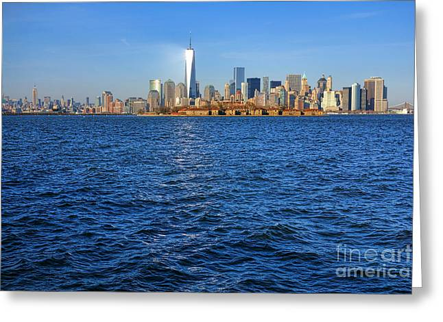 Midtown Greeting Cards - New Light on the Water Greeting Card by Olivier Le Queinec