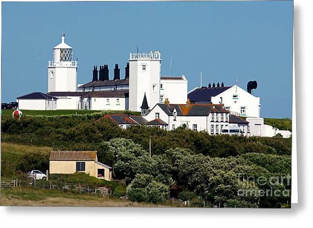 Terri Waters Greeting Cards - New Lizard Point Lighthouse Cornwall Greeting Card by Terri  Waters