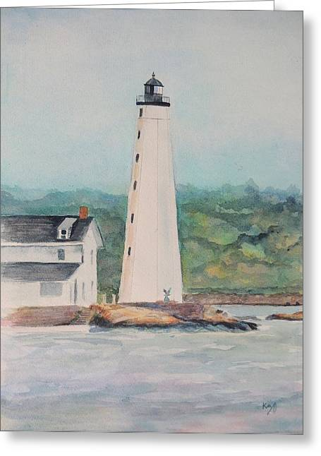 New London Harbor Lighthouse New London Ct Greeting Card by Patty Kay Hall