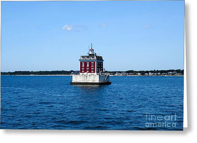 Recently Sold -  - Ledge Greeting Cards - New London Ledge Light Greeting Card by Fishers Island Photography