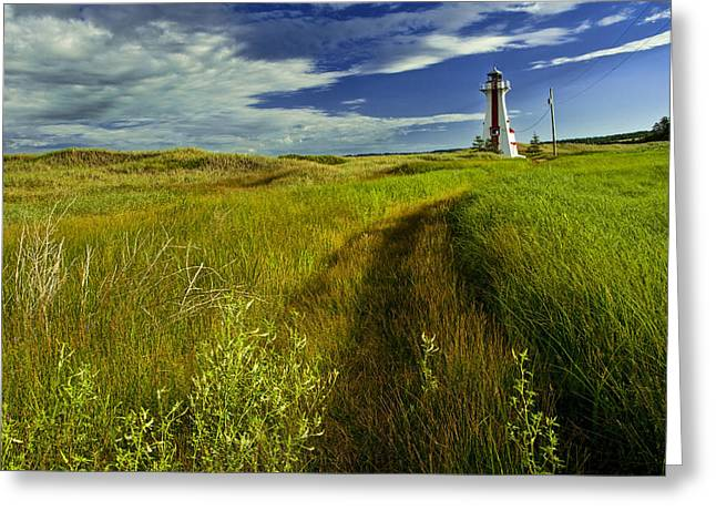 Randy Greeting Cards - New London Lighthouse on Prince Edward Island No.128 Greeting Card by Randall Nyhof
