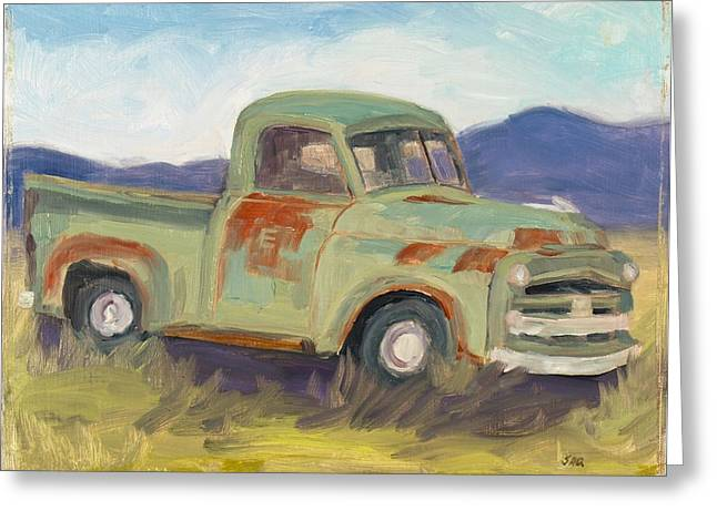 Classic Pickup Paintings Greeting Cards - New Mexico Classic Greeting Card by Julia Grundmeier