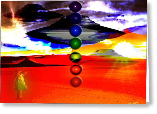 New Mexico Dream Greeting Card by Sarah  Niebank