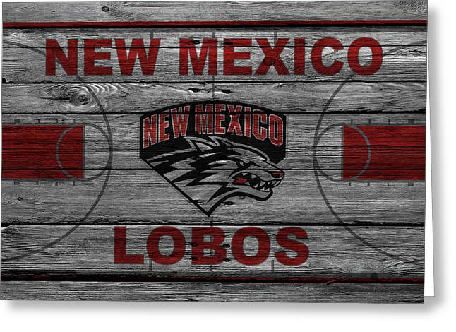Dunks Greeting Cards - New Mexico Lobos Greeting Card by Joe Hamilton