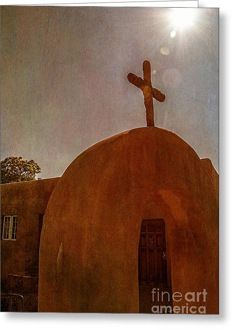 Taos Greeting Cards - New Mexico Meditation Greeting Card by Terry Rowe