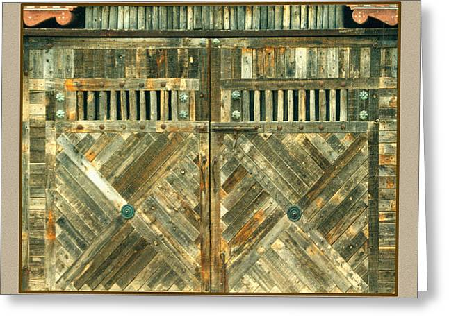 Portal Greeting Cards - Abstract New Mexico Portals Greeting Card by Jack Pumphrey