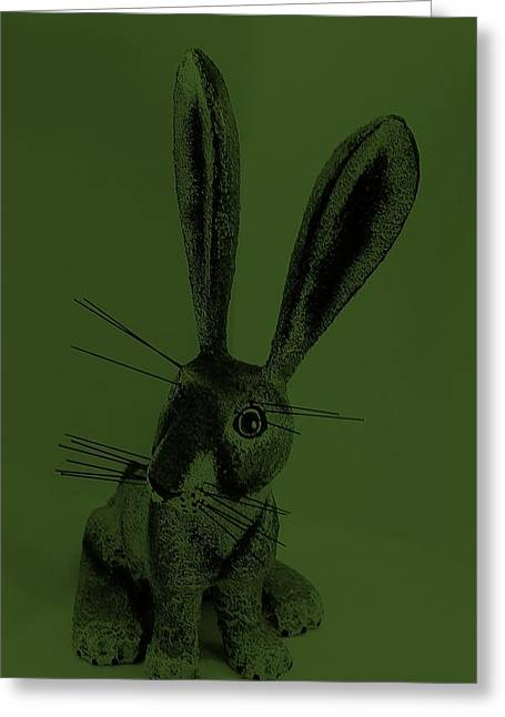Bugs Bunny Greeting Cards - New Mexico Rabbit Green Greeting Card by Rob Hans