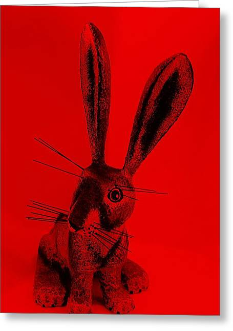 Bugs Bunny Greeting Cards - New Mexico Rabbit Red Greeting Card by Rob Hans