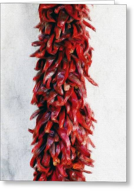 Jalapeno Greeting Cards - New Mexico Red Chili Art Greeting Card by Barbara Chichester