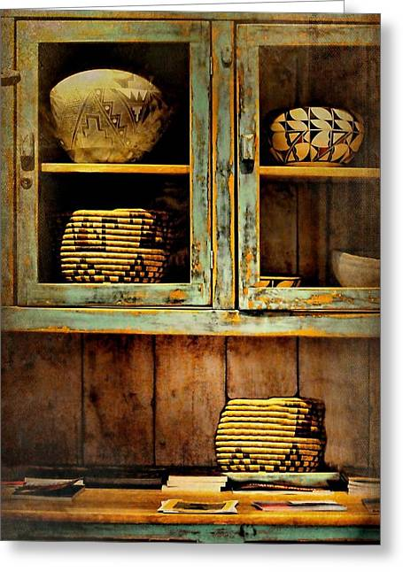 Sideboard Greeting Cards - New Mexico Sideboard Greeting Card by Diana Angstadt