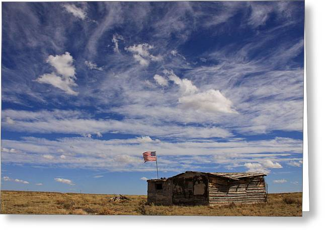 Shack Greeting Cards - New Mexico Sky Greeting Card by Ellen and Udo Klinkel