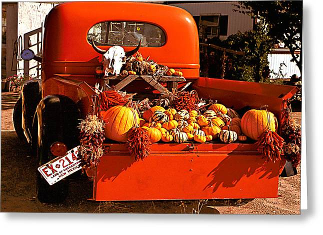 Jean Noren Greeting Cards - New Mexico Truck Greeting Card by Jean Noren