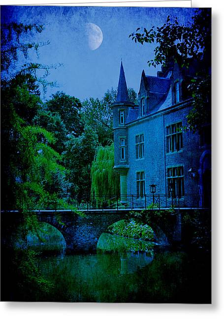 Recently Sold -  - Surreal Landscape Greeting Cards - New Moon Greeting Card by Danny Van den Groenendael
