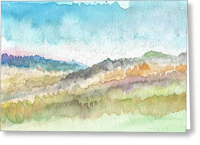 New Morning Greeting Card by Linda Woods