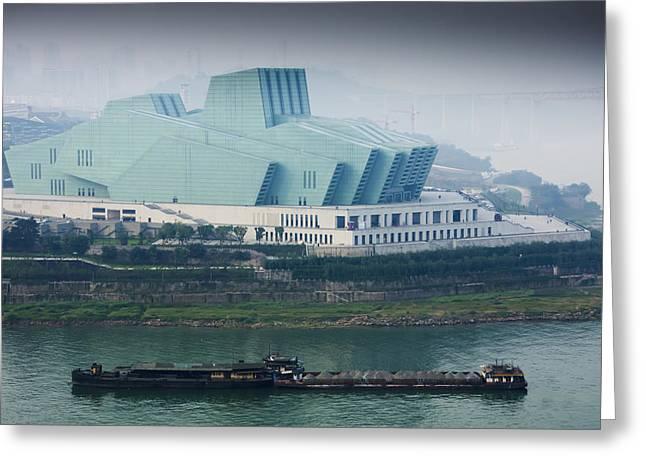 New Opera House Chongqing, Sichuan Greeting Card by Charles Bowman