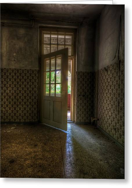 Haunted House Digital Greeting Cards - New opportunitys  Greeting Card by Nathan Wright