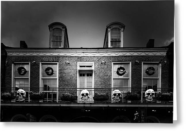 Famous Cities Greeting Cards - New Orleans- A Skull Paradise Greeting Card by Christine Till
