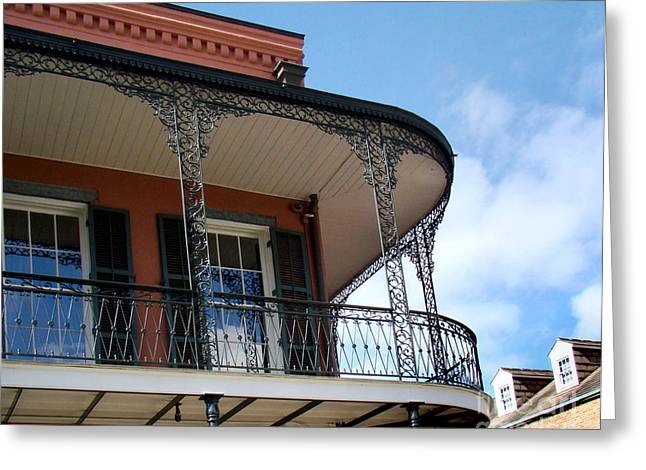 Grillwork Greeting Cards - New Orleans Balcony Greeting Card by Eva Kato