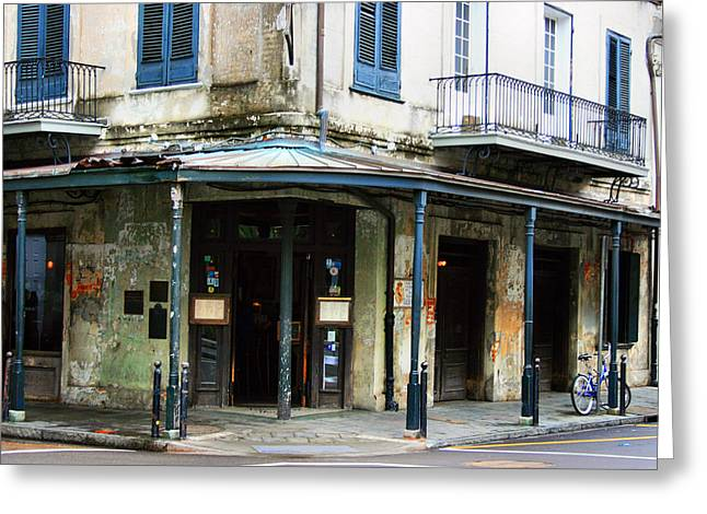 Recently Sold -  - Old Street Greeting Cards - New Orleans Bar Before Happy Hour 1 Greeting Card by Robert Sobota
