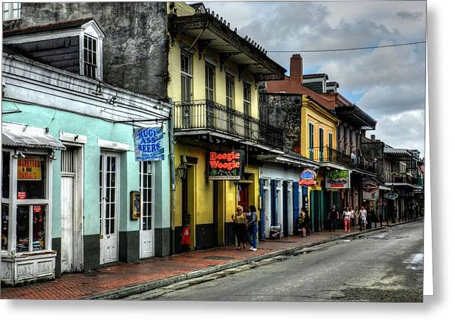 New Orleans - Bourbon Street 006 Greeting Card by Lance Vaughn