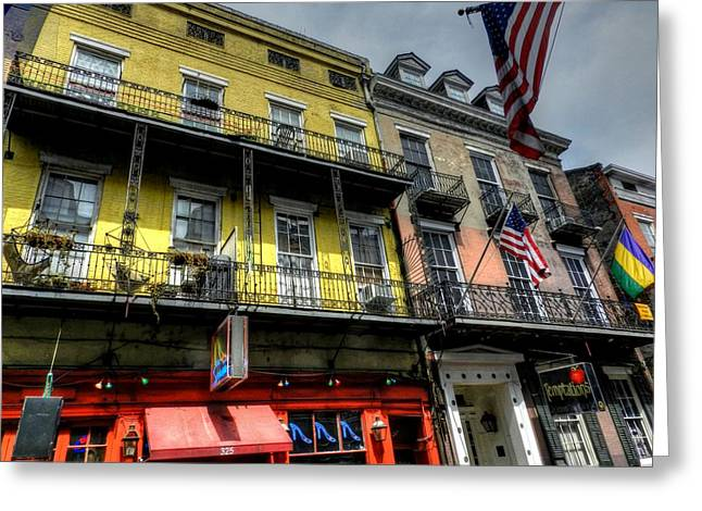 Nola Greeting Cards - New Orleans - Bourbon Street 007 Greeting Card by Lance Vaughn