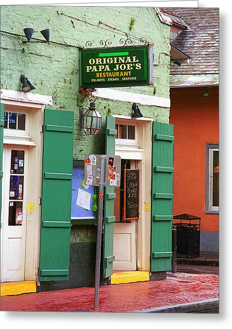 New Orleans Louisiana Framed Prints Greeting Cards - New Orleans - Bourbon Street 4 Greeting Card by Frank Romeo
