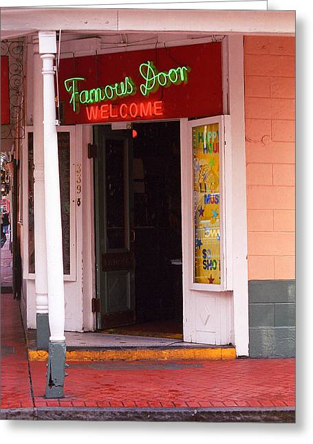 French Quarter Home Greeting Cards - New Orleans - Bourbon Street 6 Greeting Card by Frank Romeo
