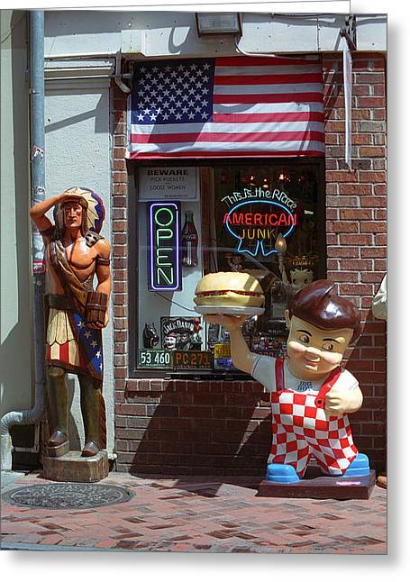 Hamburger Greeting Cards - New Orleans - Bourbon Street 8 Greeting Card by Frank Romeo