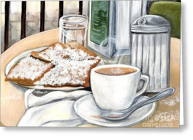 New Orleans Cafe Du Monde Greeting Card by Elaine Hodges