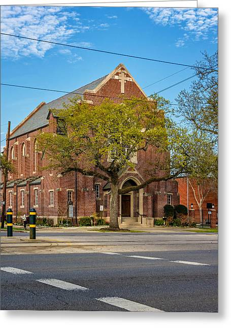 Canal Street Greeting Cards - New Orleans - Canal St Church Greeting Card by Steve Harrington