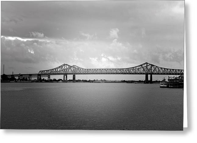 Bw Greeting Cards - New Orleans CCC Bridge Greeting Card by Christine Till