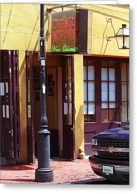 Cigar Factory Greeting Cards - New Orleans Cigar Factory Greeting Card by Frank Romeo