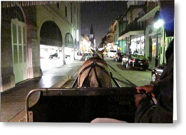 New Orleans - City At Night - 121213 Greeting Card by DC Photographer