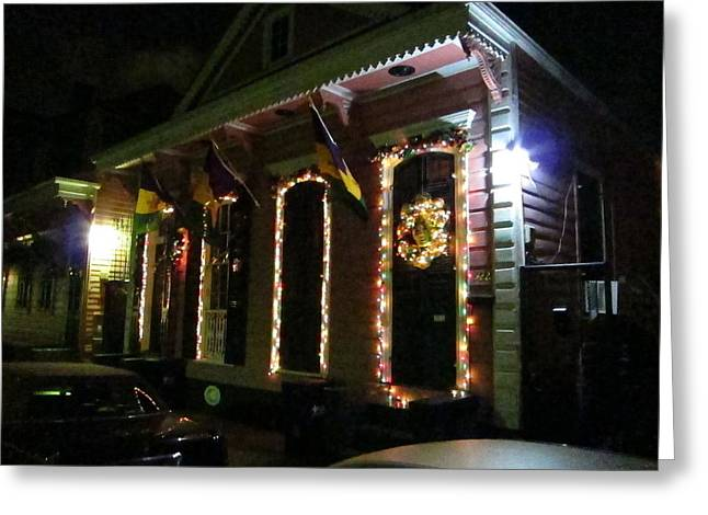 News Greeting Cards - New Orleans - City at Night - 121219 Greeting Card by DC Photographer
