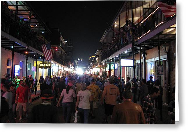 New Orleans - City At Night - 12125 Greeting Card by DC Photographer