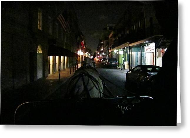 New Orleans - City At Night - 12129 Greeting Card by DC Photographer