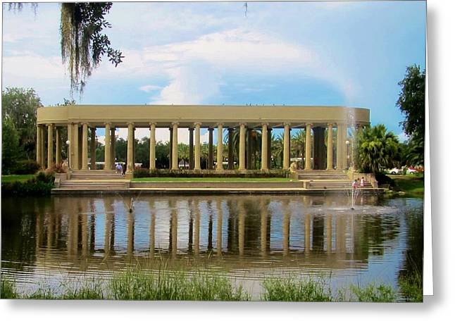 Dancing Pavilion Greeting Cards - New Orleans City Park - Peristyle Greeting Card by Deborah Lacoste