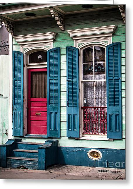 Historical Pictures Greeting Cards - New Orleans Colors Greeting Card by Perry Webster