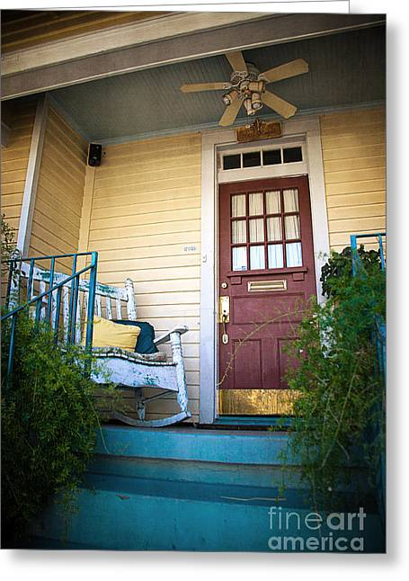 New Orleans Home Greeting Cards - New Orleans Doorway Greeting Card by Joan McCool