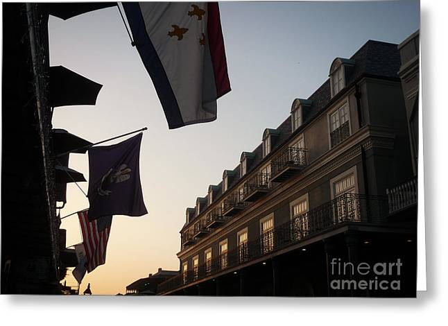 French Quarter Photographs Greeting Cards - Evening in New Orleans Greeting Card by Valerie Reeves