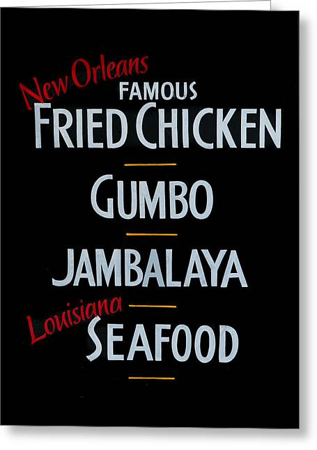 Gumbo Greeting Cards - New Orleans Food Greeting Card by Cecil Fuselier