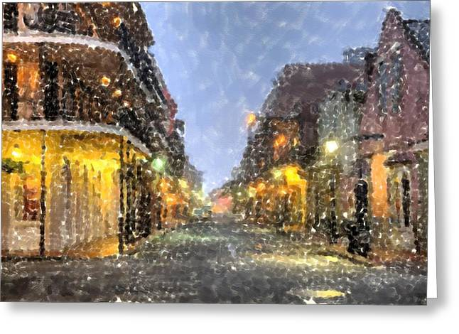 Louisiana Pastels Greeting Cards - New Orleans French Quarter Louisiana Artwork Greeting Card by Olde Time  Mercantile