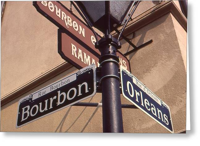 Top Seller Greeting Cards - New Orleans French Quarter Street Signs Greeting Card by Peter Fine Art Gallery  - Paintings Photos Digital Art