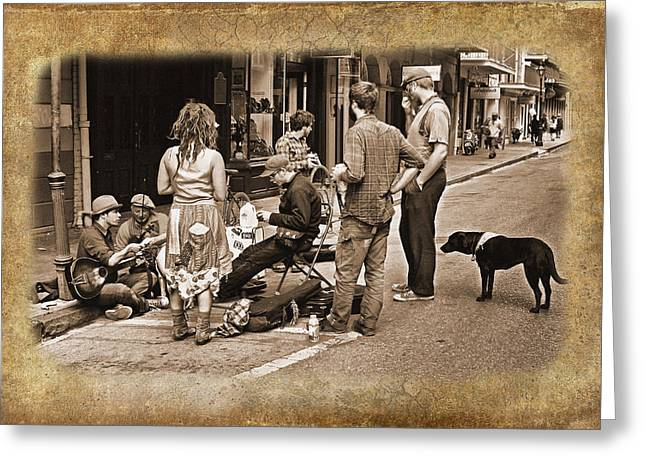 New Orleans Gypsies - Antique Greeting Card by Judy Vincent