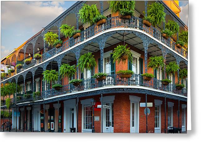 Iron Greeting Cards - New Orleans House Greeting Card by Inge Johnsson