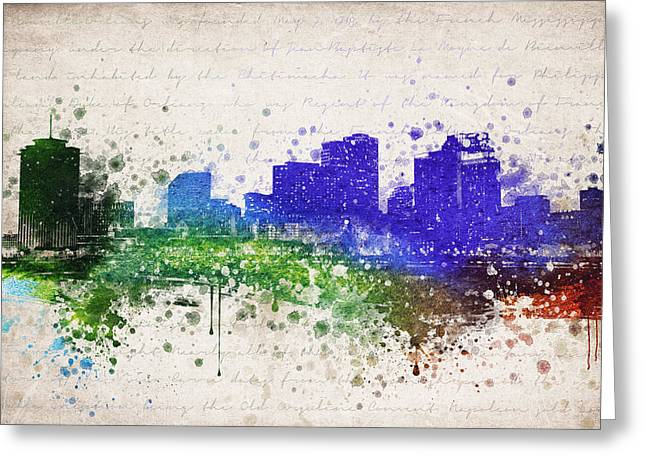 New Orleans In Color Greeting Card by Aged Pixel