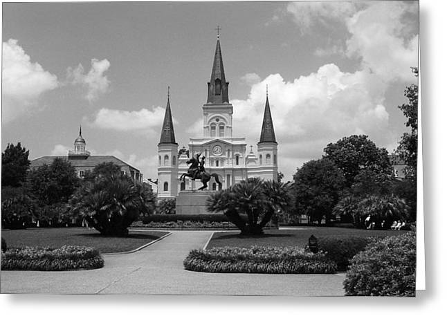 New Orleans Louisiana Framed Prints Greeting Cards - New Orleans - Jackson Square 4 Greeting Card by Frank Romeo